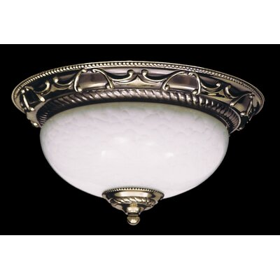 Napoleonic 2-Light Flush Mount Size: 6 H x 12 W x 12 D