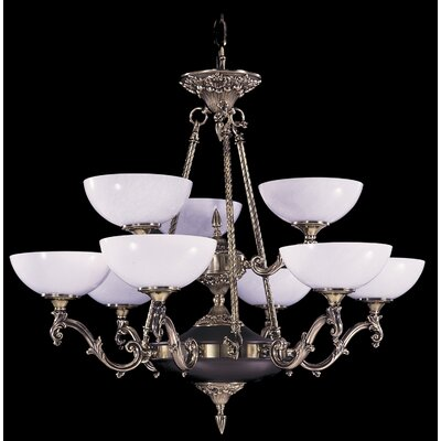Napoleonic 9-Light Shaded Chandelier
