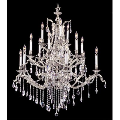 Vienna 15-Light Crystal Chandelier Finish: Polished Silver