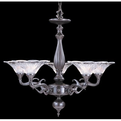 Geneva 5-Light Shaded Chandelier Finish: Mahogany Bronze