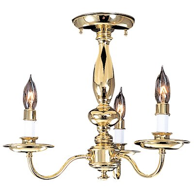 Jamestown 3-Light Candle-Style Chandelier Color: Mahogany Bronze