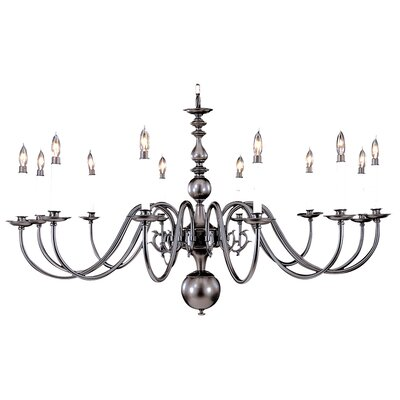 Jamestown 12-Light Candle-Style Chandelier Color: Mahogany Bronze