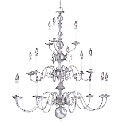 Jamestown 18-Light Candle-Style Chandelier Finish: Mahogany Bronze