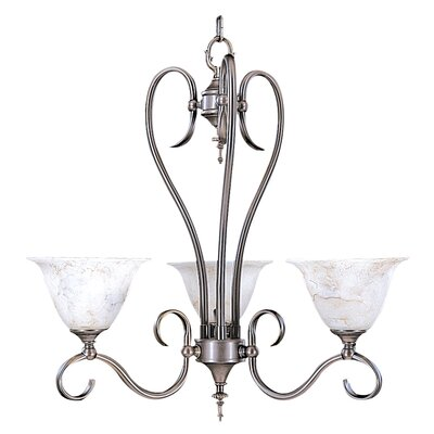 Forest 3-Light Shaded Chandelier Finish: Mahogany Bronze / Amber Marble