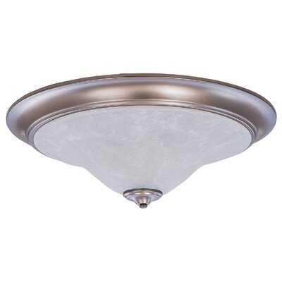 Black Forest 3-Light Flush Mount Finish: Satin Pewter / White