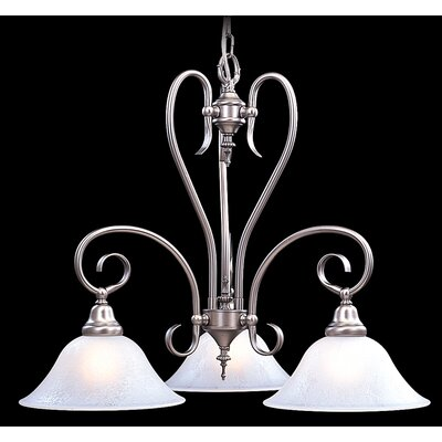 Forest 3-Light Shaded Chandelier Finish: Harvest Bronze / White Marble