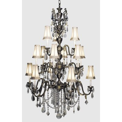 Czarina 15-Light Crystal Chandelier Finish: Antique Silver / Black