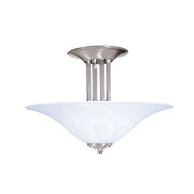 Bellevue 3-Light Semi Flush Mount Finish: Brushed Stainless / Polished Nickel
