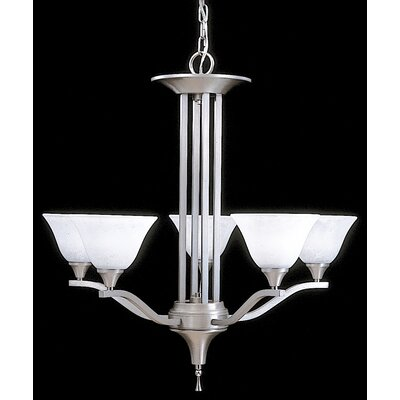 Bellevue 5-Light Shaded Chandelier Finish: Brushed Stainless / Polished Nickel