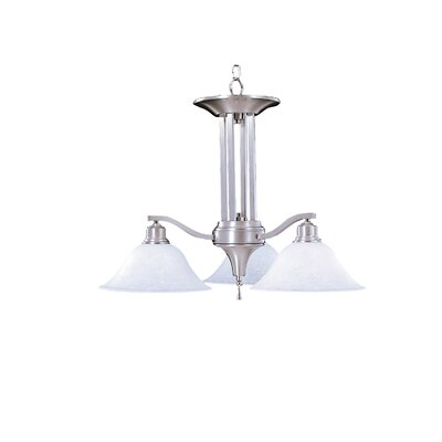 Bellevue 3-Light Shaded Chandelier Finish: Brushed Stainless / Polished Nickel