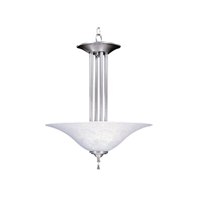 Bellevue 3-Light Inverted Pendant Finish: Brushed Stainless / Polished Nickel