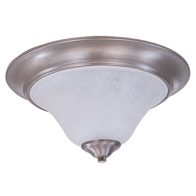 Bellevue 2-Light Flush Mount Size: 8 x 18, Finish: Brushed Stainless / Polished Nickel