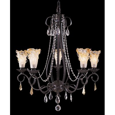 Rhapsody 5-Light Crystal Chandelier