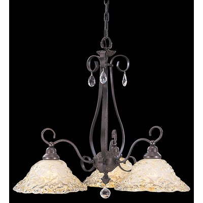 Rhapsody 3-Light Shaded Chandelier