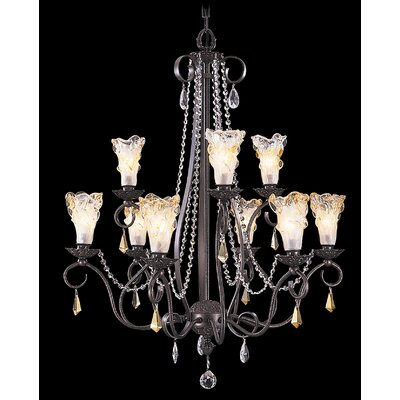 Rhapsody 9-Light Shaded Chandelier