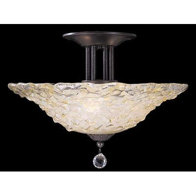 Rhapsody 3-Light Semi Flush Mount