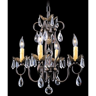 Liebestraum 4-Light Crystal Chandelier Finish: Mahogany Bronze