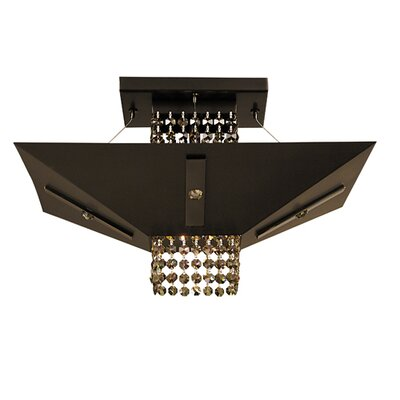 Gemini 1-Light Semi Flush Mount Size: 10 x 14