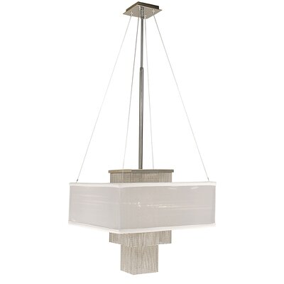 Gymnopedie 1-Light Mini Pendant Size: 28 - 51 x 14, Shade Color: White Sheer
