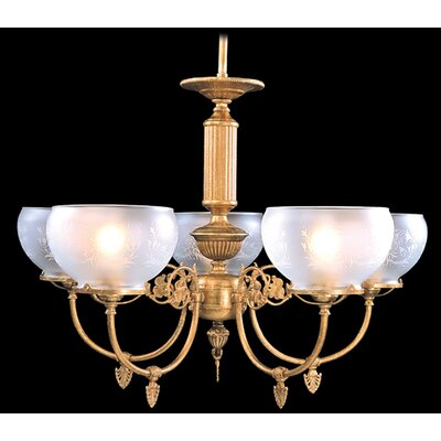 Chancery 5-Light Shaded Chandelier Color: Polished Brass