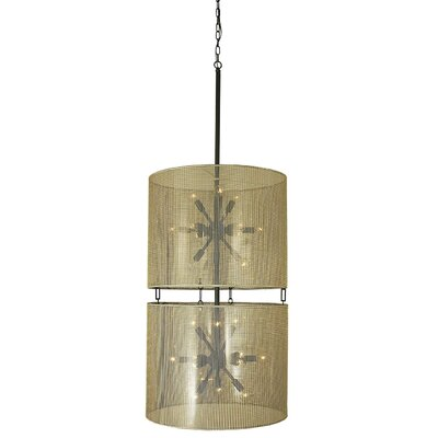 Simone 24-Light Shaded Chandelier Finish: Antique Brass
