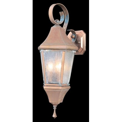 Normandy 3-Light Outdoor Lantern Post Finish: Raw Copper