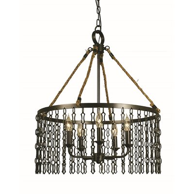 Warwick 5-Light Pendant Finish: Mahogany Bronze, Size: 24 H x 17 W x 17 D