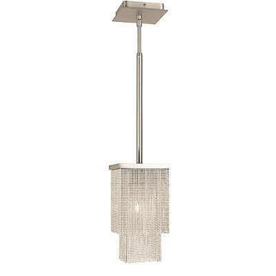 Gymnopedie 1-Light Mini Pendant Finish: Siena Bronze, Size: 17 H x 8 W x 8 D