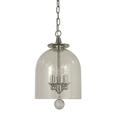 Hannover 3-Light Bowl Pendant Finish: Polished Nickel, Size: 14 H x 7 W x 7 D