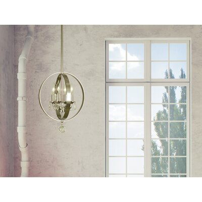 Constellation 4-Light Foyer Pendant Color: Polished Nickel