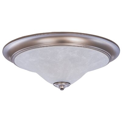 Black Forest 3-Light Flush Mount Finish: Harvest Bronze / White Marble