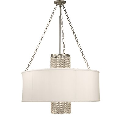 Angelique 1-Light Mini Pendant Size: 24, Shade Color: Opaque White