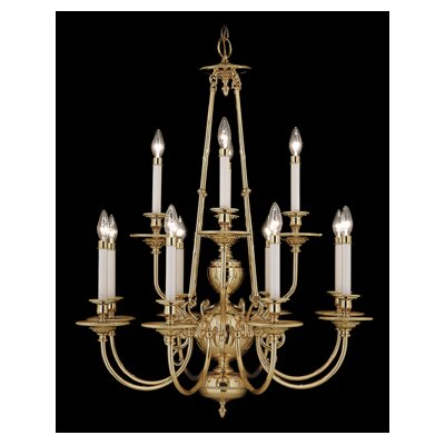 Kensington 6-Light Candle-Style Chandelier Finish: Polished Brass