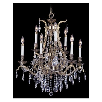 Vienna 9-Light Crystal Chandelier Finish: Polished Silver