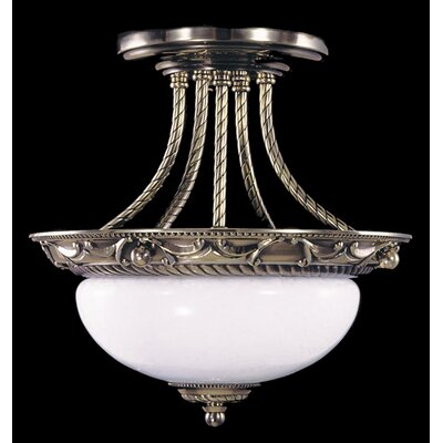 Napoleonic Semi Flush Mount Size: 12