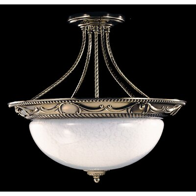 Napoleonic Semi Flush Mount Size: 17