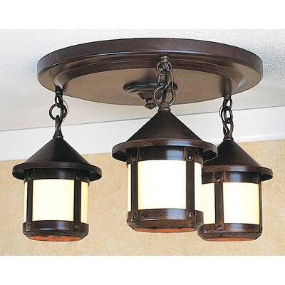 Berkeley 3-Light Semi Flush Mount
