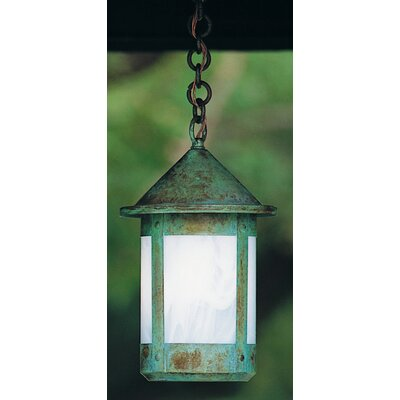 Berkeley 1-Light Mini Pendant Size: 12.38 H x 7 W, Shade Color: Gold White Iridescent