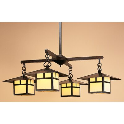 Monterey with Overlay 4-Light Shaded Chandelier