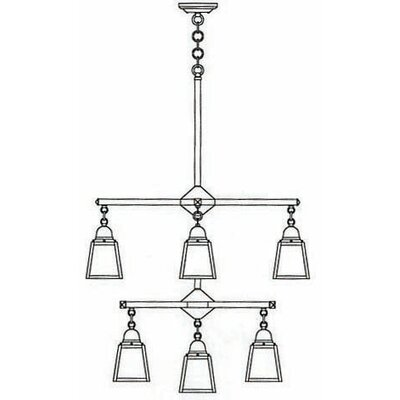 A-line 9-Light Shaded Chandelier
