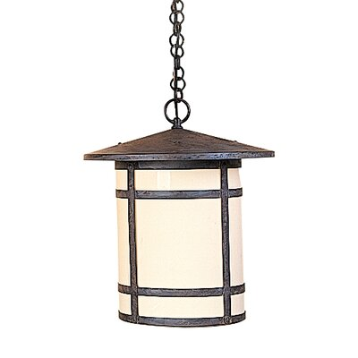 Berkeley 1-Light Mini Pendant Size: 16.63 H x 14.13 W, Shade Color: Almond Mica