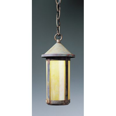Berkeley 1-Light Mini Pendant Shade Color: Amber Mica, Size: 12 H x 5.63 W