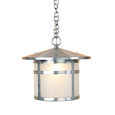 Berkeley 1-Light Mini Pendant Shade Color: Amber Mica, Size: 10.13 H x 11 W