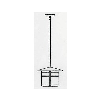 Berkeley 1-Light Mini Pendant Size: 10.38 H x 14.13 W, Shade Color: Frosted
