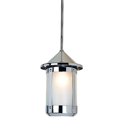 Berkeley 1-Light Foyer Pendant Size: 8.63 H x 5.63 W, Shade Color: Amber Mica