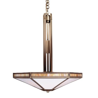 Etoile 4-Light Inverted Pendant Finish: Mission Brown