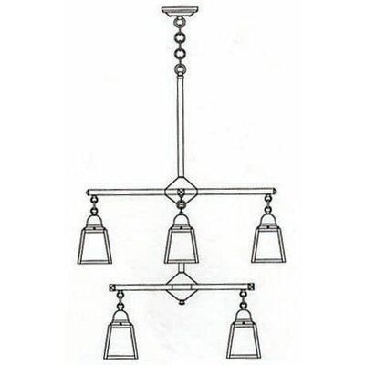 A-Line 5-Light Shaded Chandelier