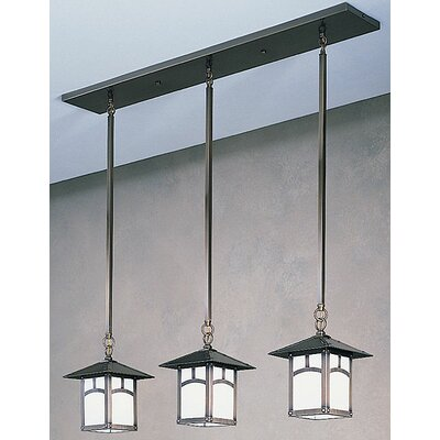 Evergreen 3-Light Kitchen Island Pendant