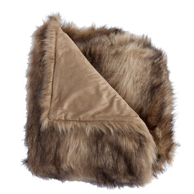 Ibex Faux Fur Throw Blanket