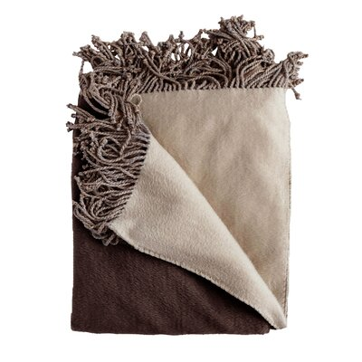 Bonnie Throw Blanket Color: Chocolate/Taupe